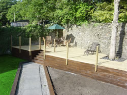 Kingston House decking and garden in Orkney